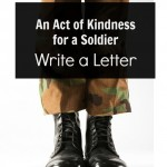 Act of Kindness for a Soldier:  Writing a Letter
