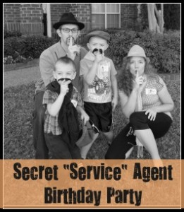 "Secret ""Service"" Agent Birthday Party"