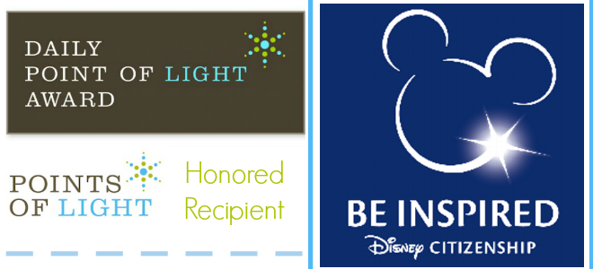Pennies of Time Daily Point of Light Award Raising Compassionate Kids Disney