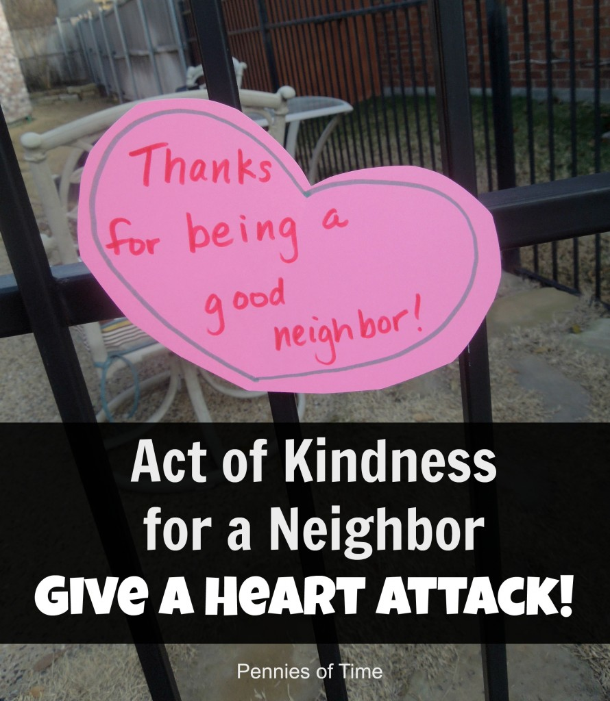 Act of Kindness for a Neighbor Give a Heart Attack