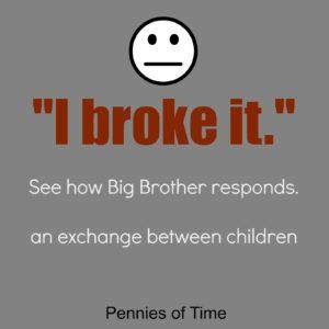 I broke It