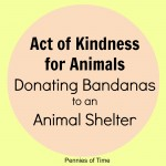 Act of Kindness:  Donating Bandanas at the Animal Shelter