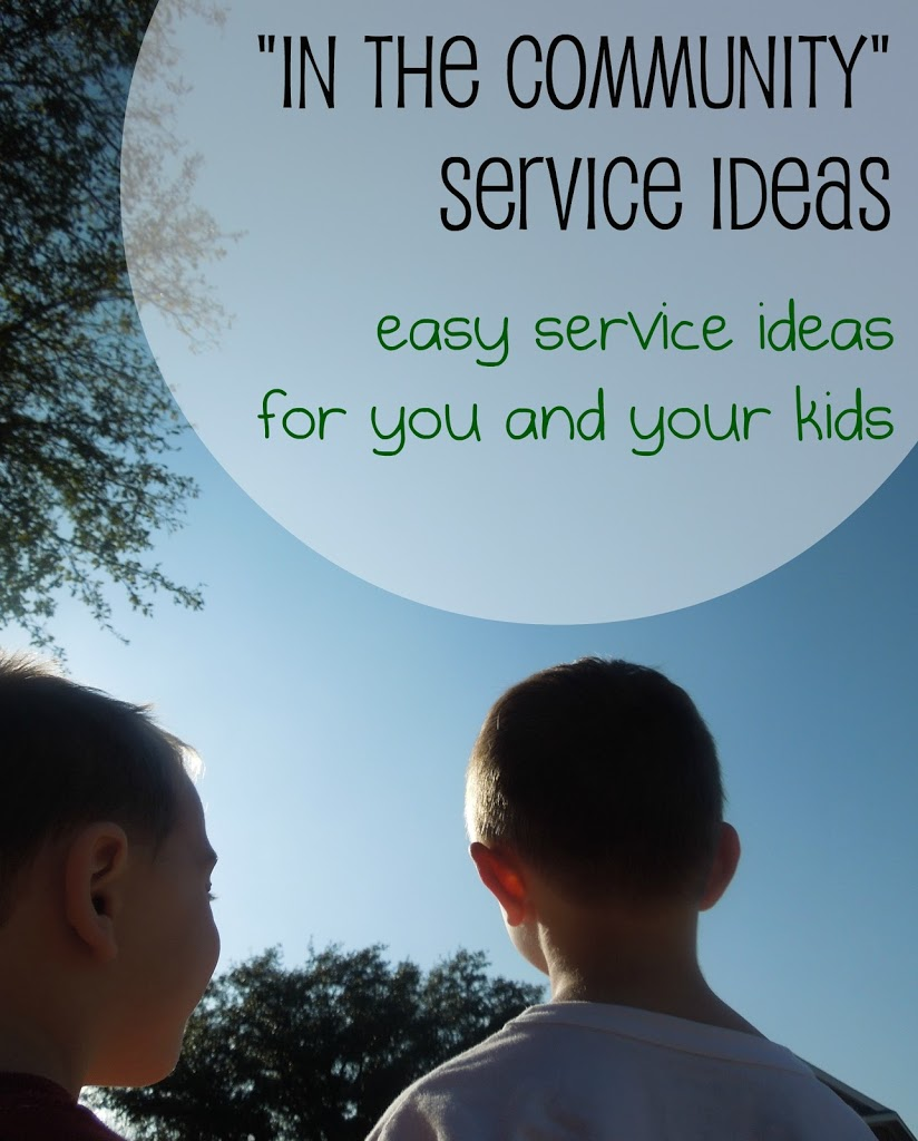 """in the community"""" service project ideas – pennies of time"""