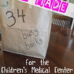 Service Project for Kids:  Busy Books for the Hospital