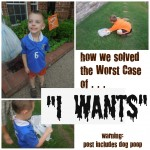"The 4 Year Old with the Worst Case of the ""I Wants"" Meets, um, Dog Poop?"