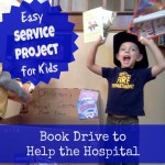 Service Project for Kids:  A Book Drive to Help a Hospital