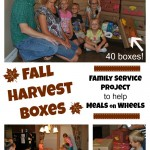 Service Project for Kids:  Fall Harvest Boxes for Meals on Wheels