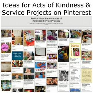 http://www.pinterest.com/penniesoftime/service-ideasrandom-acts-of-kindnessservice-projec/