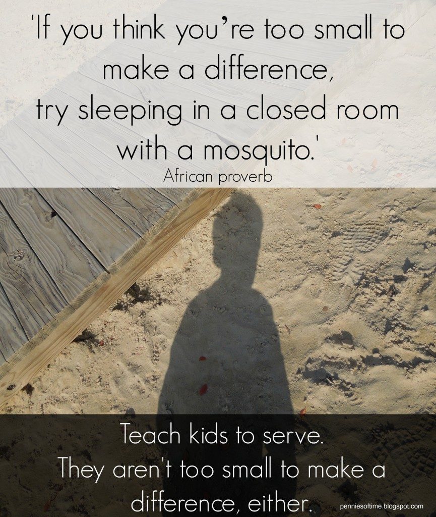 Kids are not too small to help others.