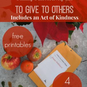 Family Fun Activities to Give to Others