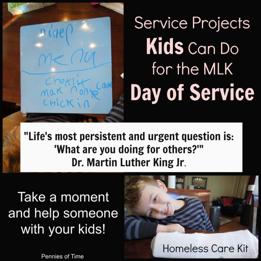 Service Projects For Kids On Mlk Day Pennies Of Time