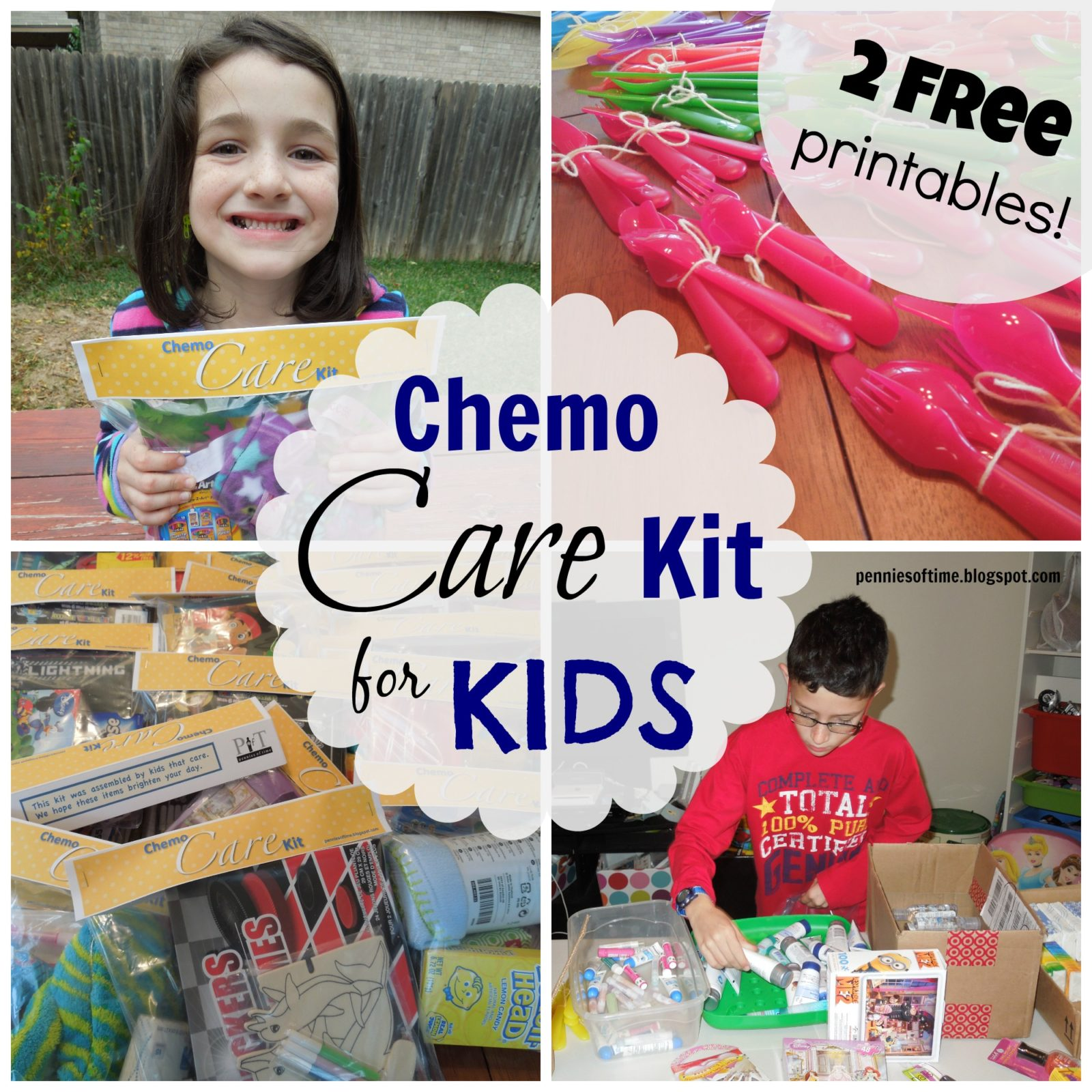 Chemo Care Kits for Kids Pennies of Time