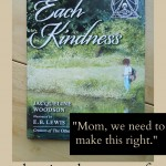 "Children's Book on Kindness:  ""Each Kindness"""