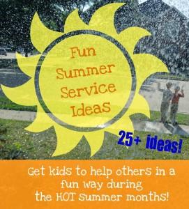 http://penniesoftime.com/fun-summer-service-ideas/