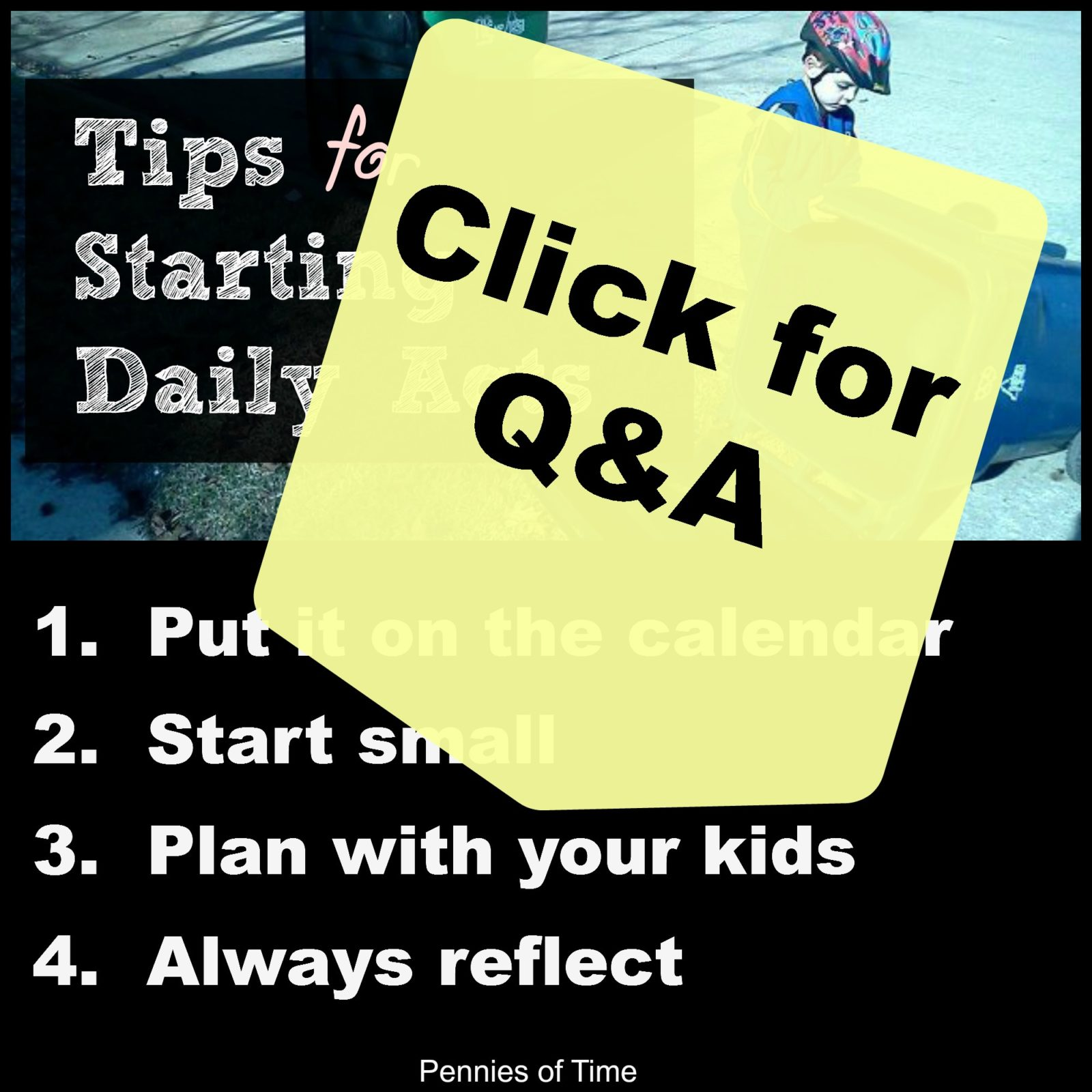 Q&A Tips for Starting Daily Acts