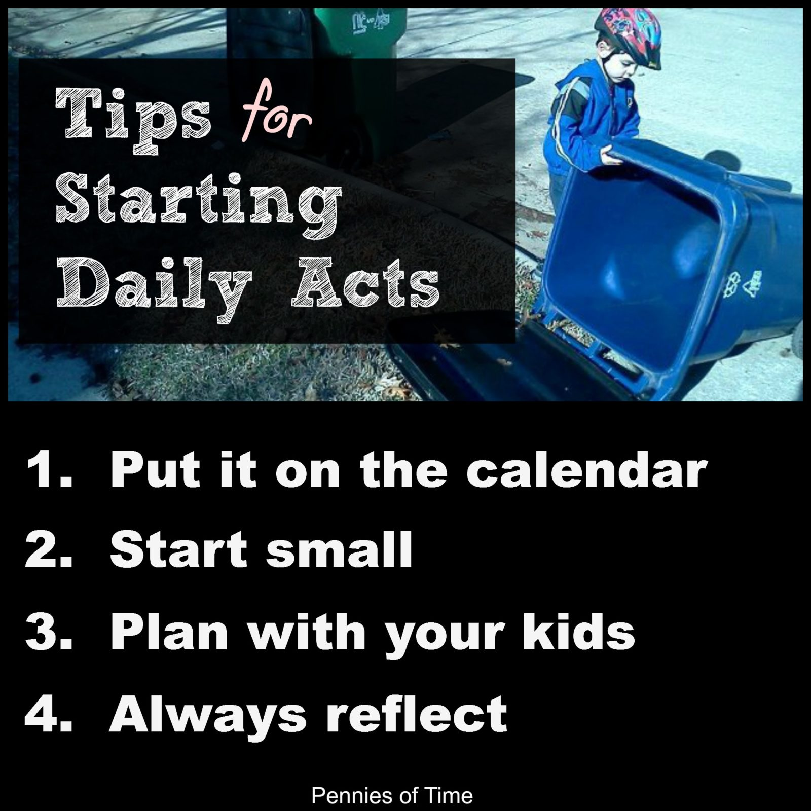 Pennies of Time Tips for Starting Daily Acts