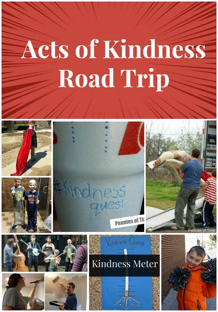 Acts of Kindness Road Trip Kindness Quest Pennies of Time