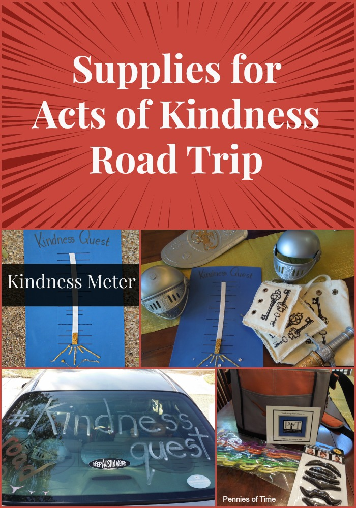 Acts of Kindness Road Trip Supplies Pennies of Time