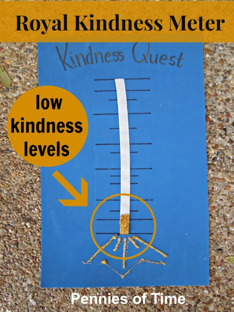 Royal Kindness Meter Kindness Quest Pennies of Time