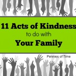 11 Acts of Kindness to do with Your Family
