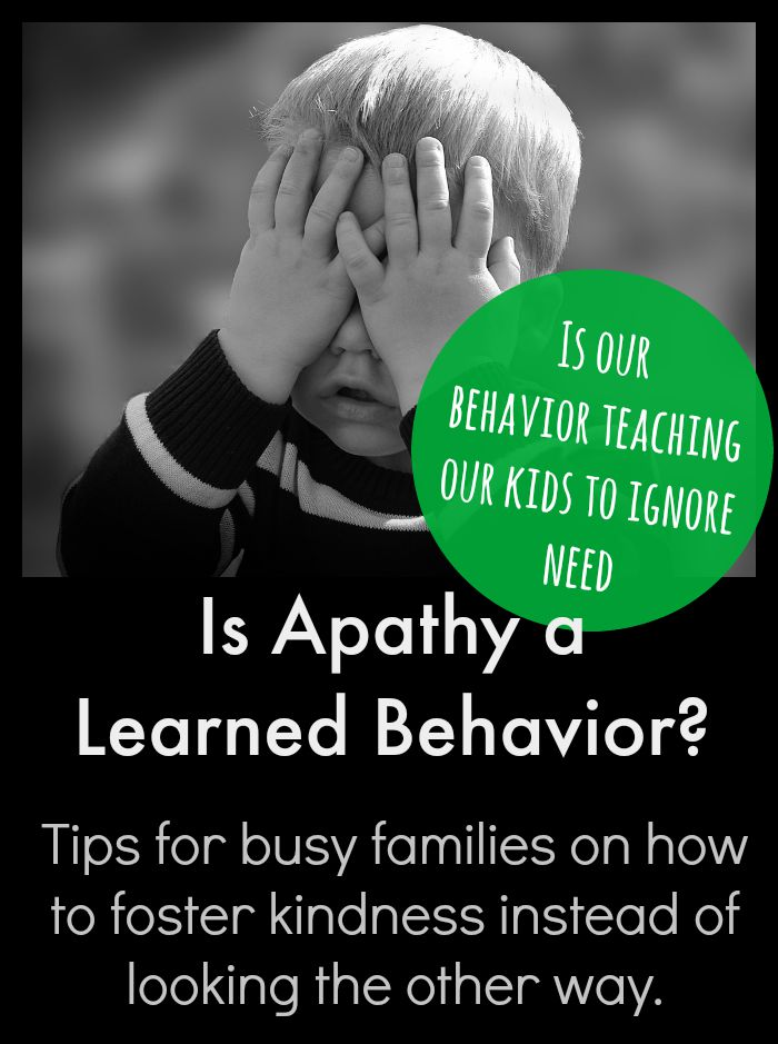 Is apathy learned