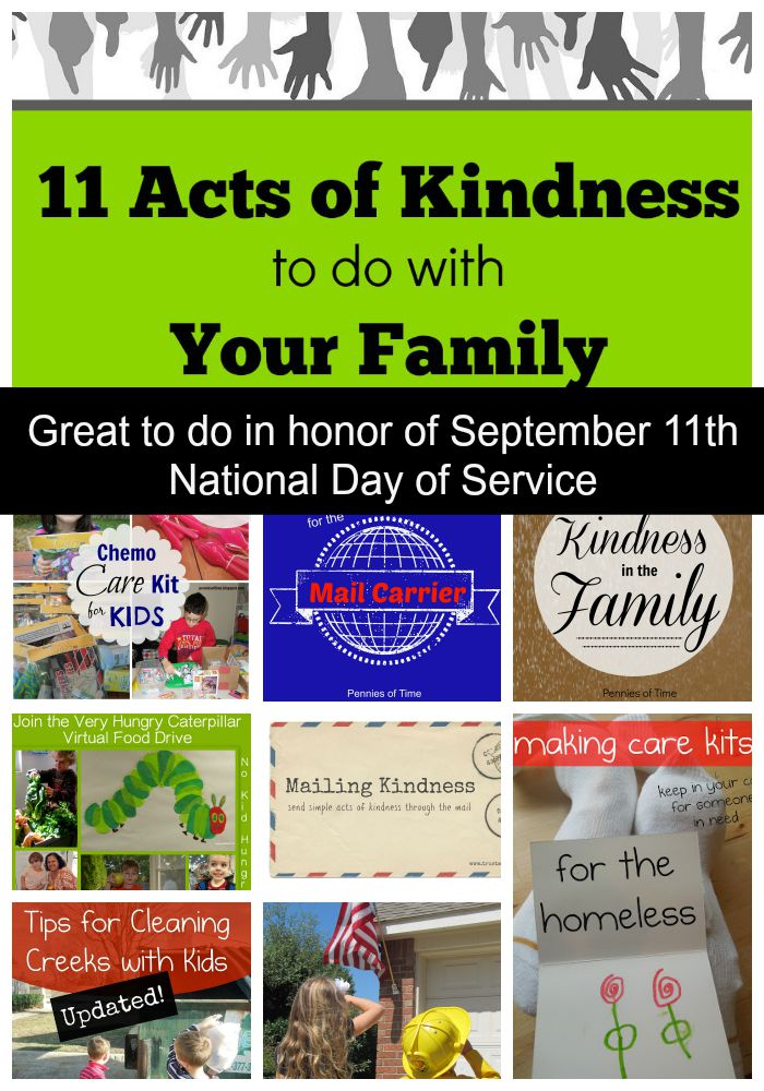 National Day of Service Ideas from Pennies of Time