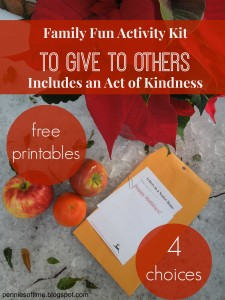 Holiday Giving Acts of kindness Teach kids to Serve Christmas Act of Kindness